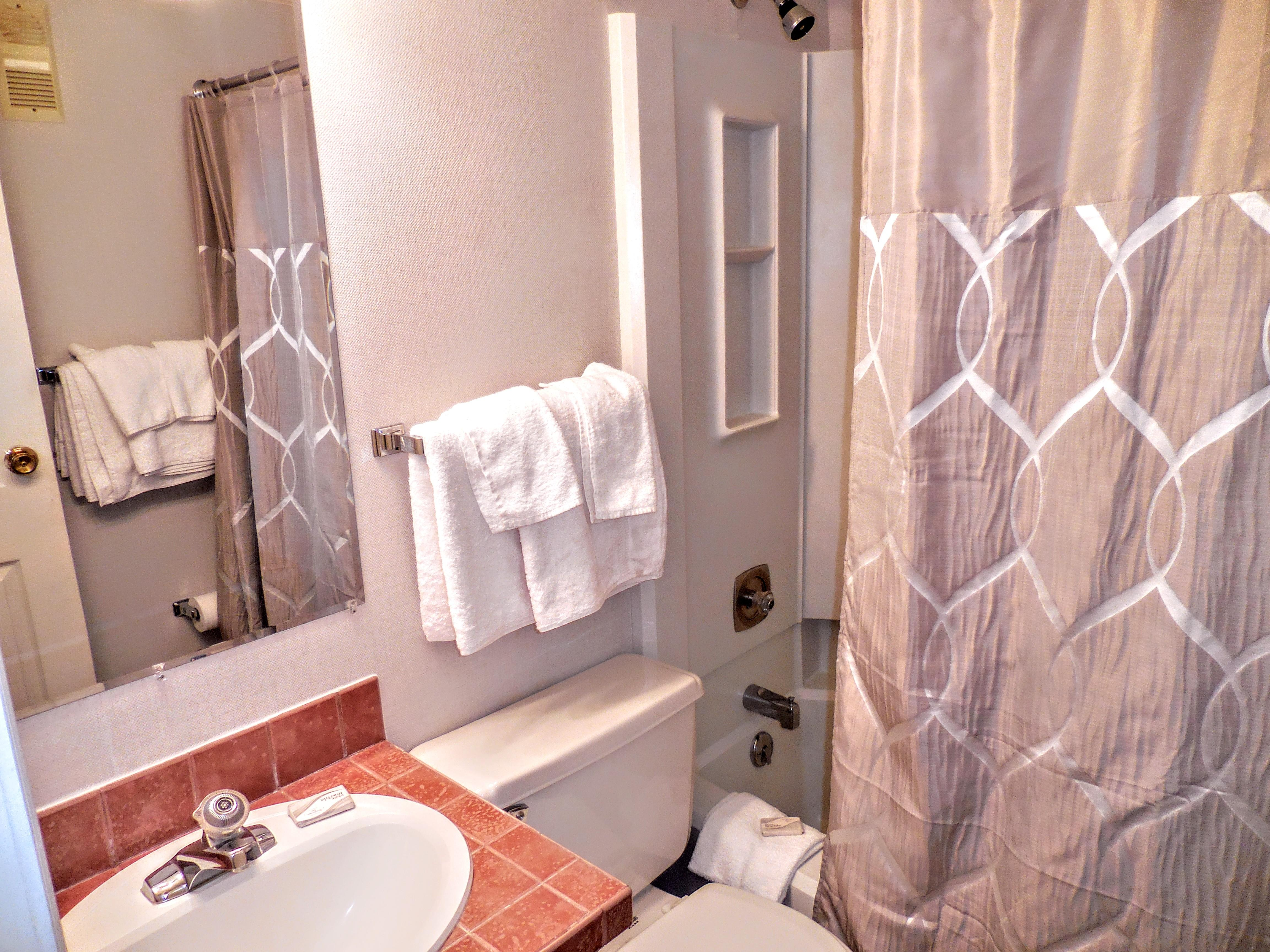 has two beds one of two 2 full sized beds in bedroom 2 one of two 2 full sized beds in bedroom 2 tv with dish network in 2nd bedroom bathroom 2