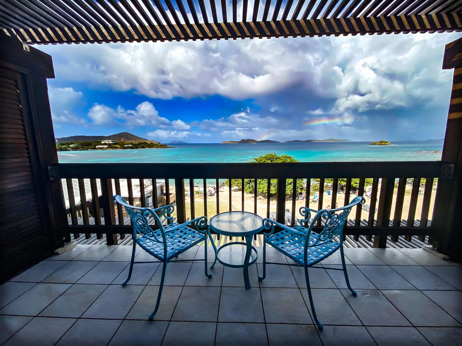 The private balcony off the master bedroom overlooking the beach - It doesn't get any better than this!