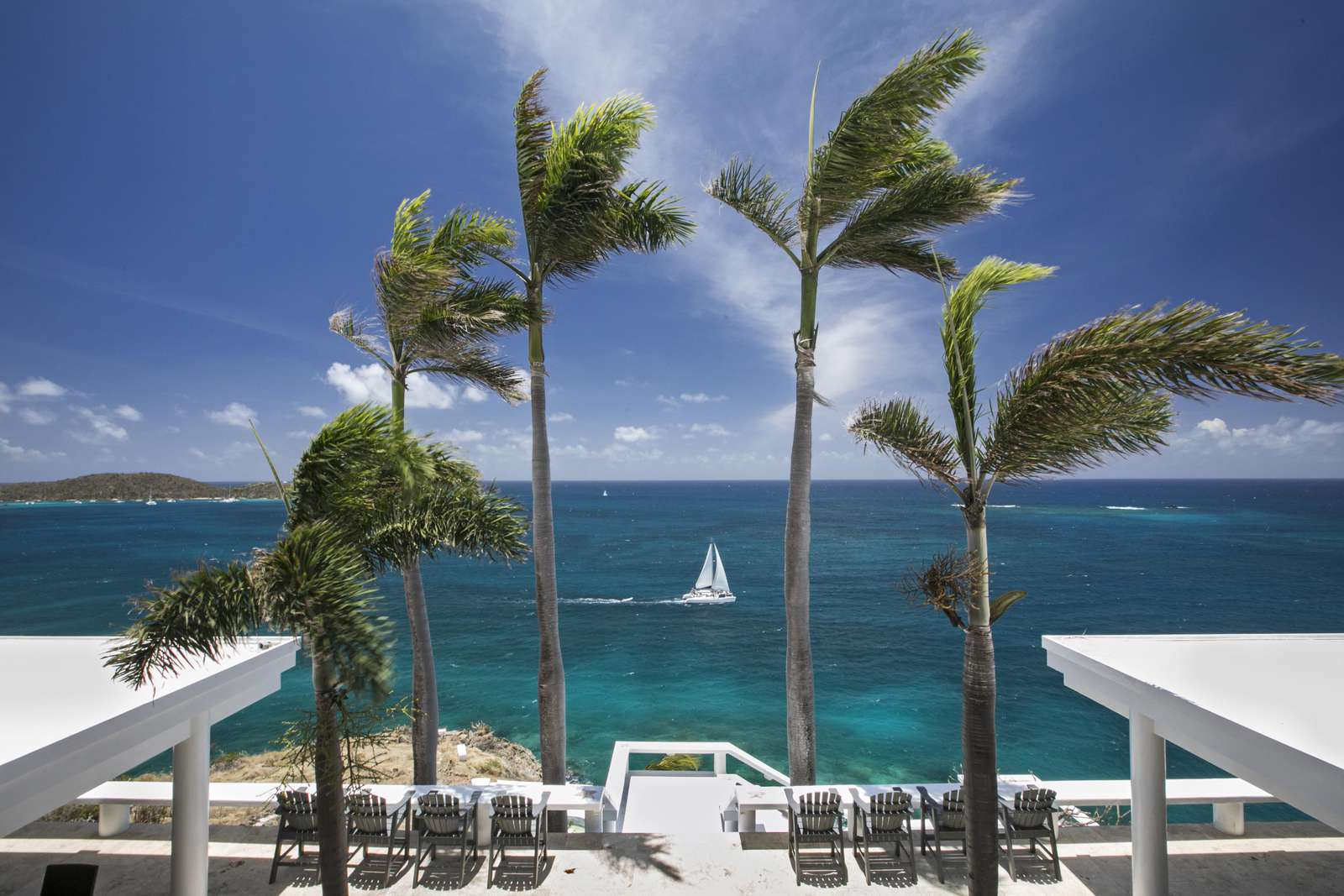 Waterfront views of the Caribbean Sea and surrounding islands