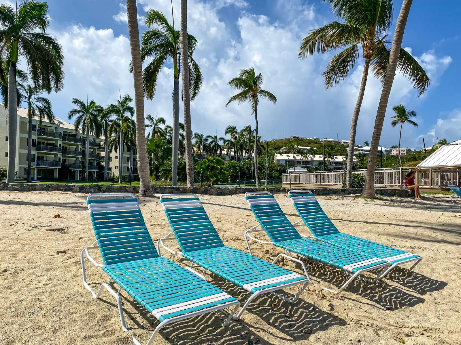 Complimentary lounge chairs for condo guests