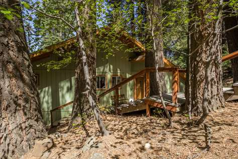 cabins woods inside meadow in nearby yosemite lodging park foresta located meadowwoods cabin rentals national