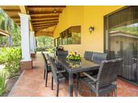 Outdoor dining area, BBQ, large covered terrace thumb