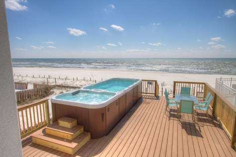 Surf Song - Beachfront Home with SwimSpa - On the Beach! Sleeps 20!