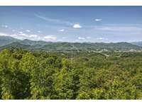 Beautiful Pigeon Forge City & Bluff Mountain Views from Cabin Porch thumb