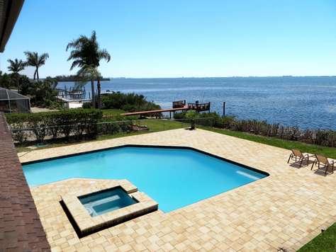 Spectacular 4 BR Bayfront Pool Home