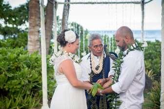 Wedding vows in the beach garden thumb
