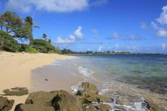 Laie Beach in front of the property.  Secluded and feels private. thumb