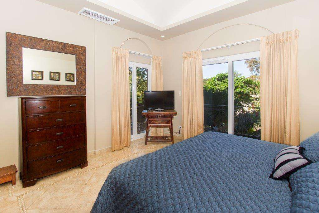 Master bedroom view with access to the balcony