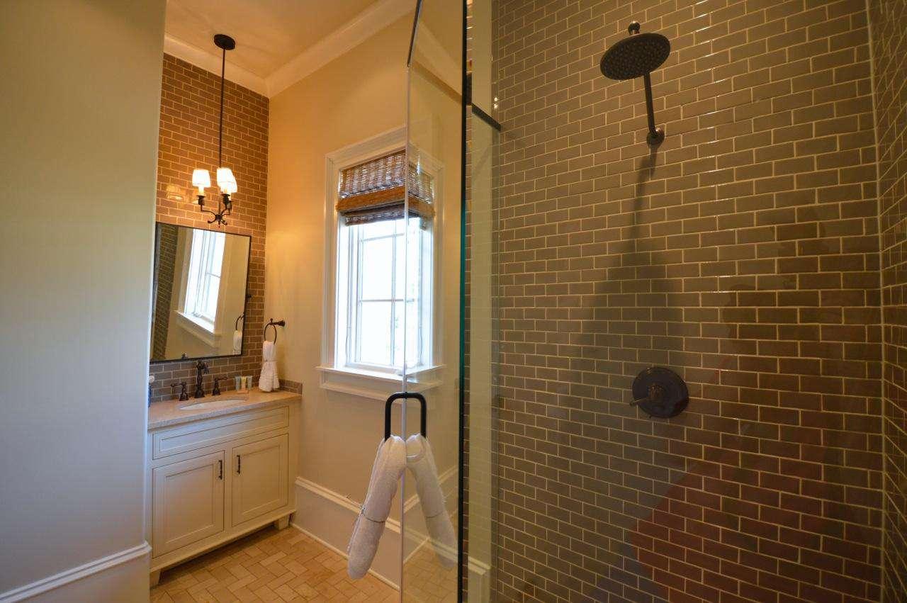 1st Floor Queen Bedroom's Private Bath: Glass Enclosed Shower