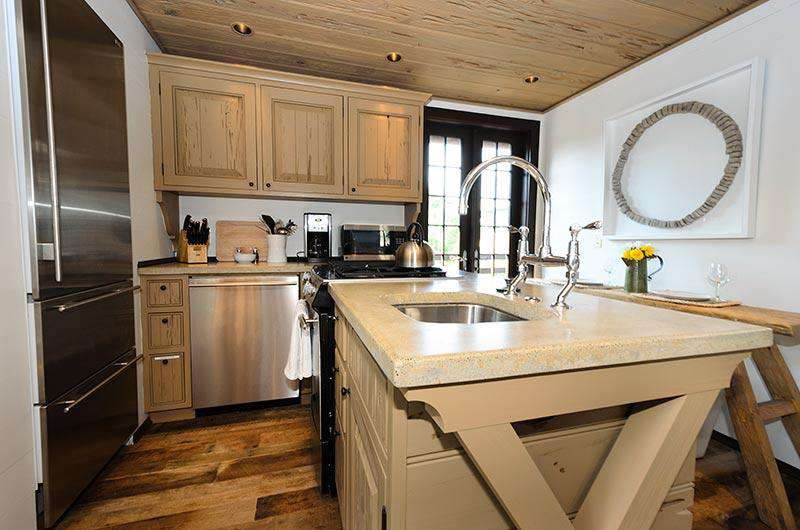 Full Kitchen includes microwave, dishwasher, gas stove and subzero refrigerator ready to store your favorite coastal delicacies