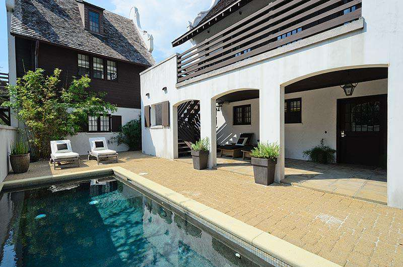 Private pool can be heated during cooler months