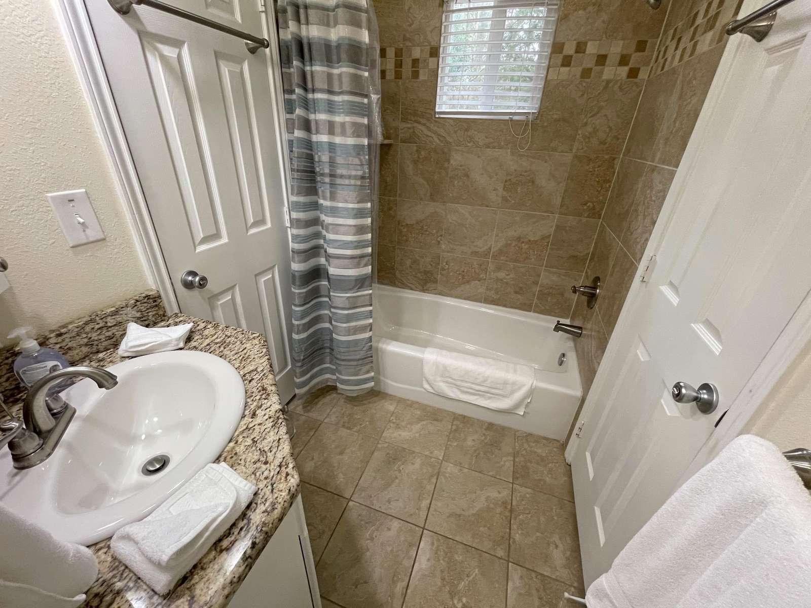 The Jack & Jill bathroom between Master 1 and Bunk Room.
