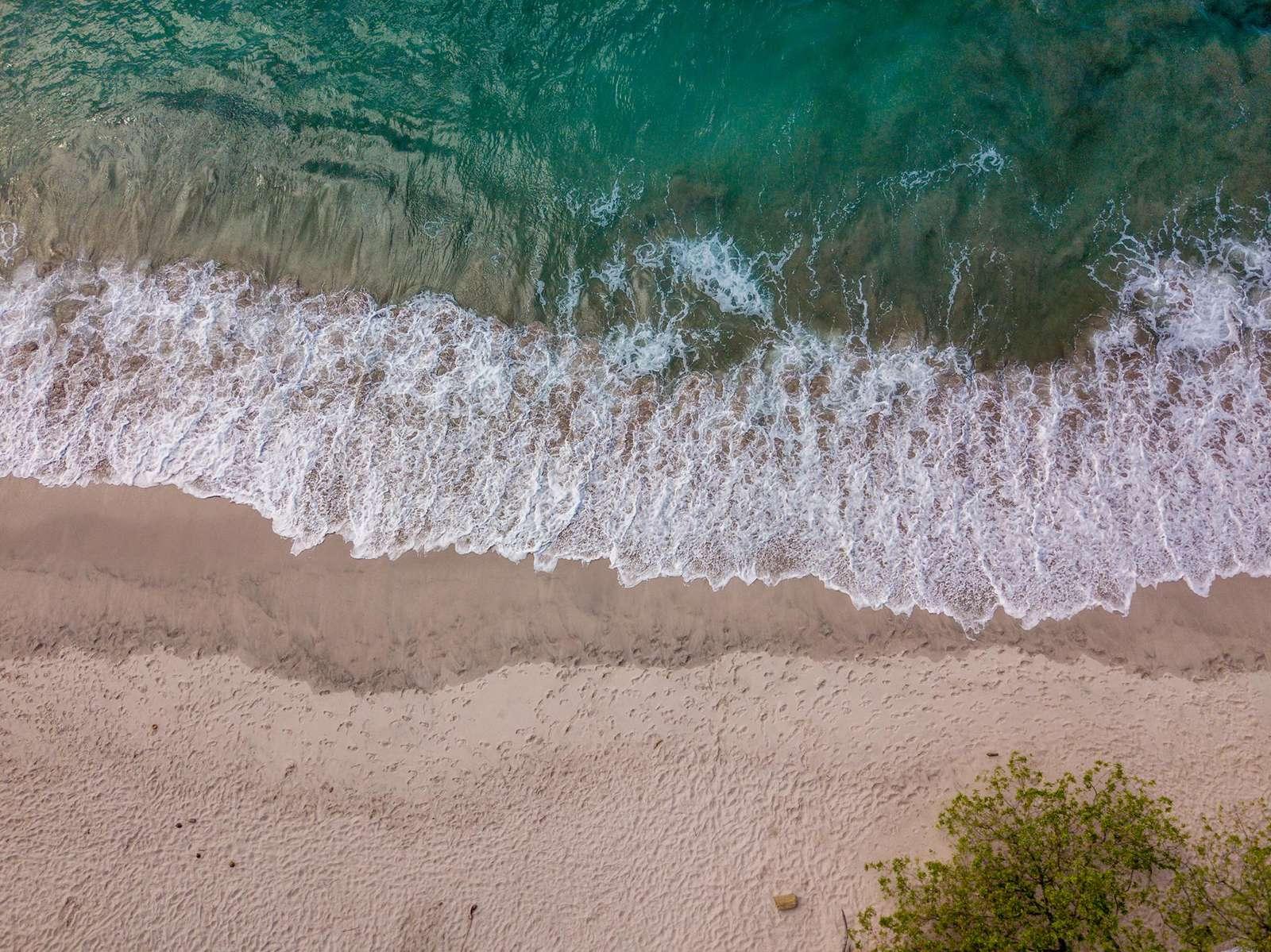 Aerial view of Flamingo Beach