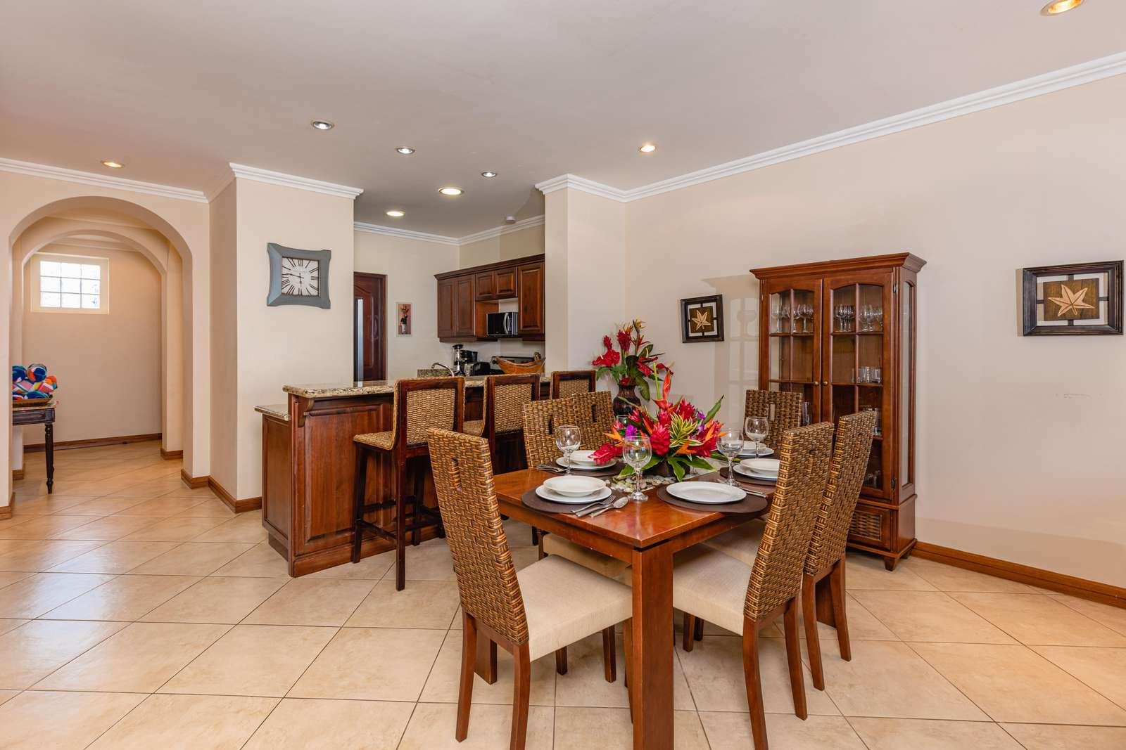 Dining area and view to kitchen