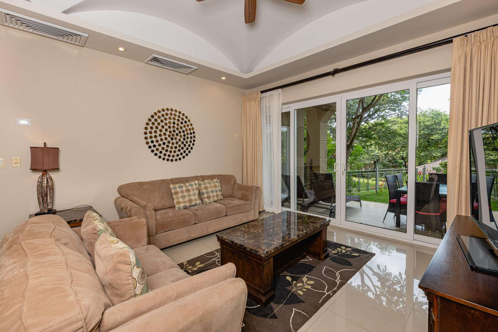 Spacious living area, access to covered terrace area