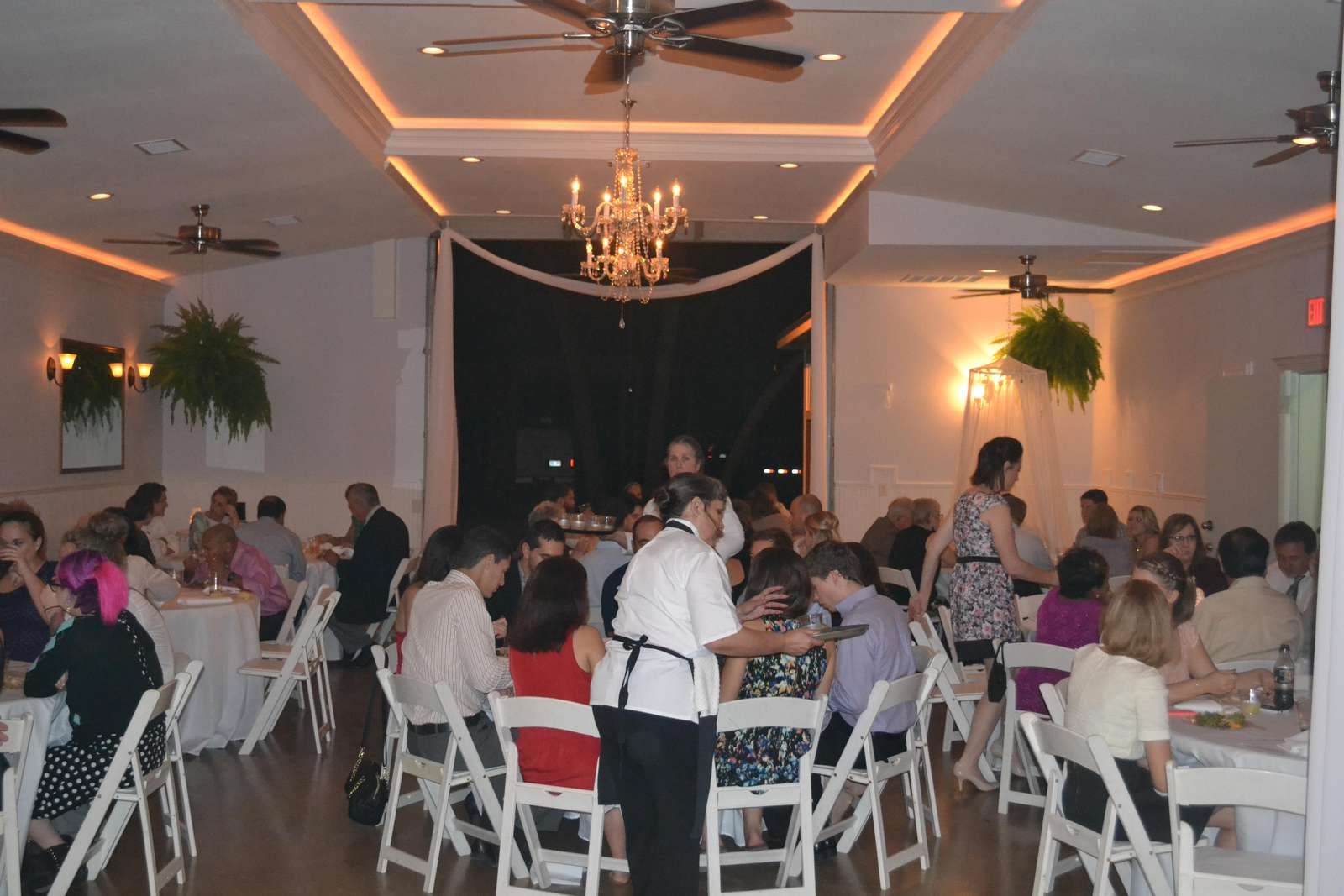 We have an event hall that's perfect for smaller weddings, corporate events and reunions.