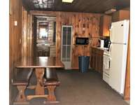 View of Kitchen and Dining Area at Douglas Fir Cabin thumb
