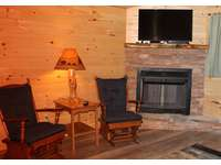 Sugar Pine Wood Burning Fireplace thumb