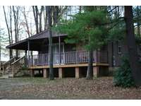 Hemlock Haven Cabin showing a front view. thumb
