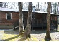 Back Porch View at Hidden Oaks Cabin thumb