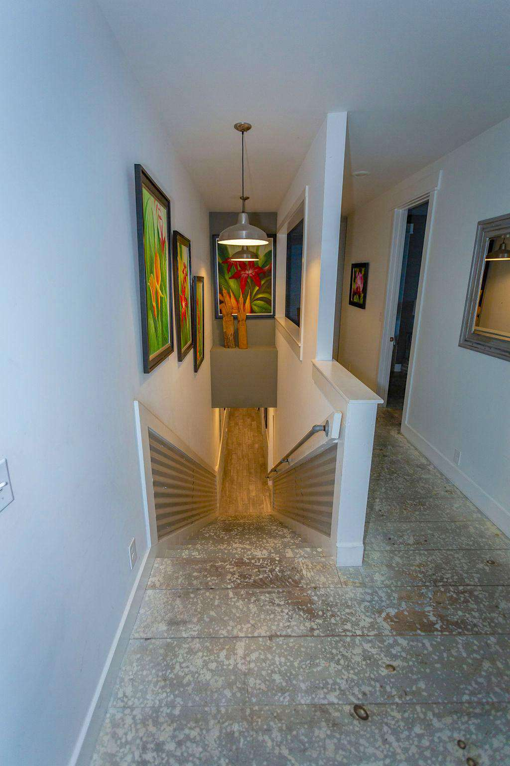 Stairwell leading to upstairs