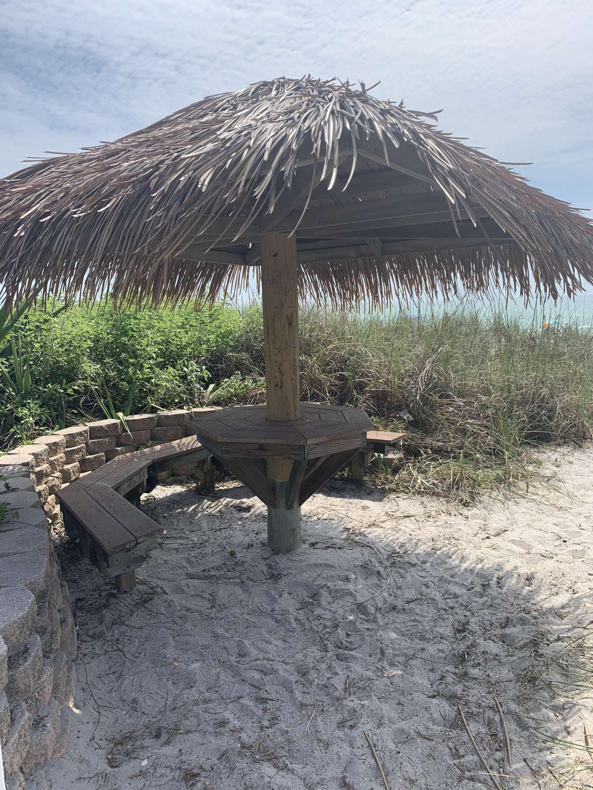 Beach Picnic Area with a Tiki Roof