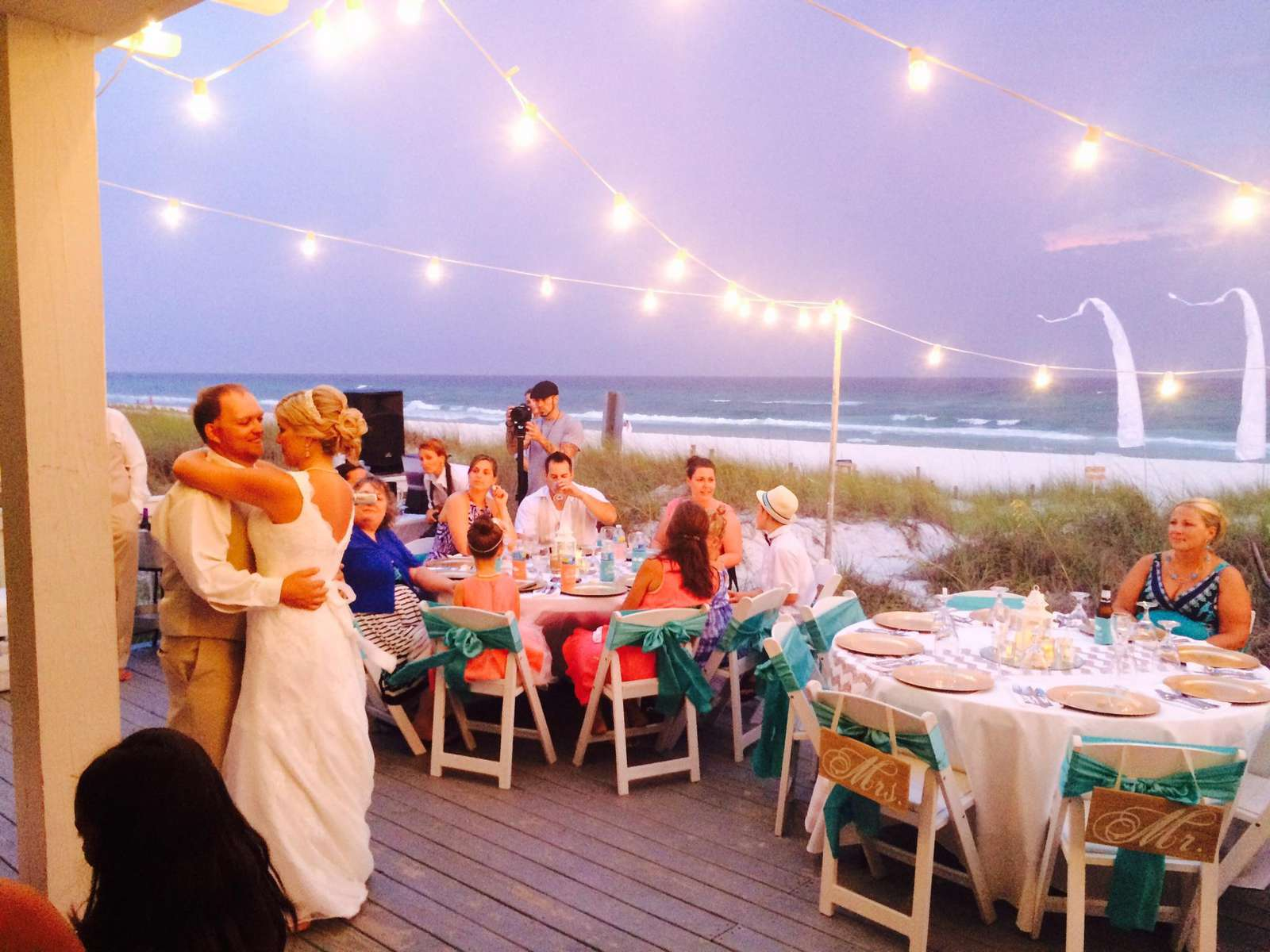 reception back deck-  princess weddings
