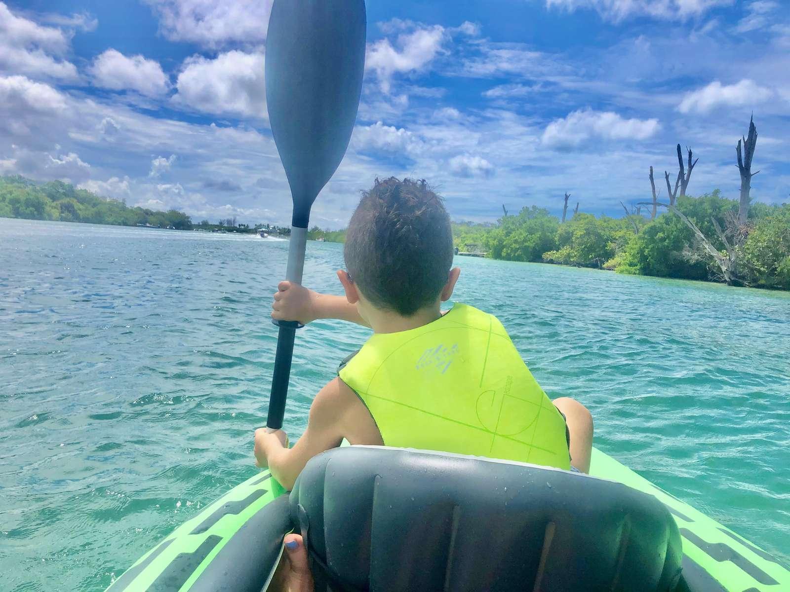 Kayaking in Lemon Bay