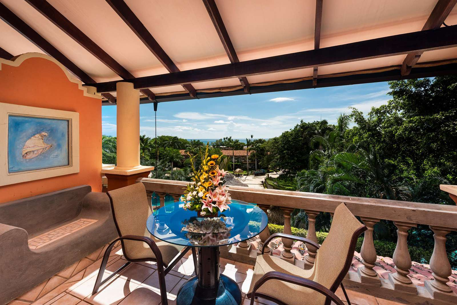 Private balcony area with a view