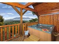 Hot Tub overlooking Amazing Mountain Views thumb