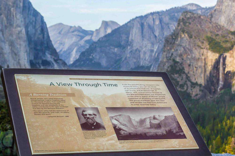 History at Tunnel View.