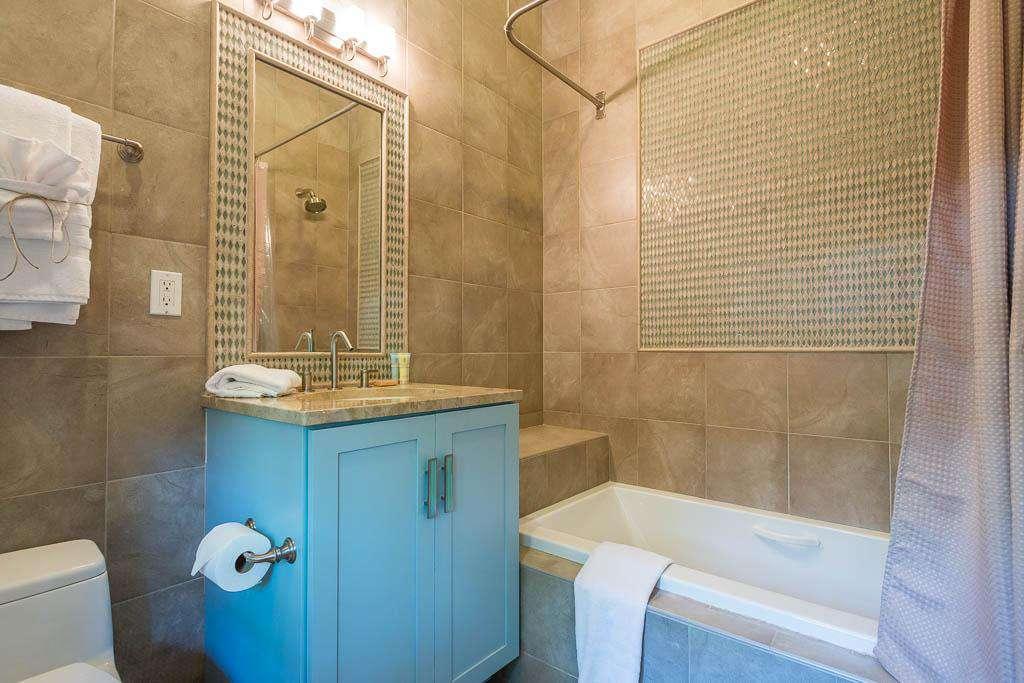 1st Floor Full Bath Adjoining Queen Bedroom - Tub/Shower Combination