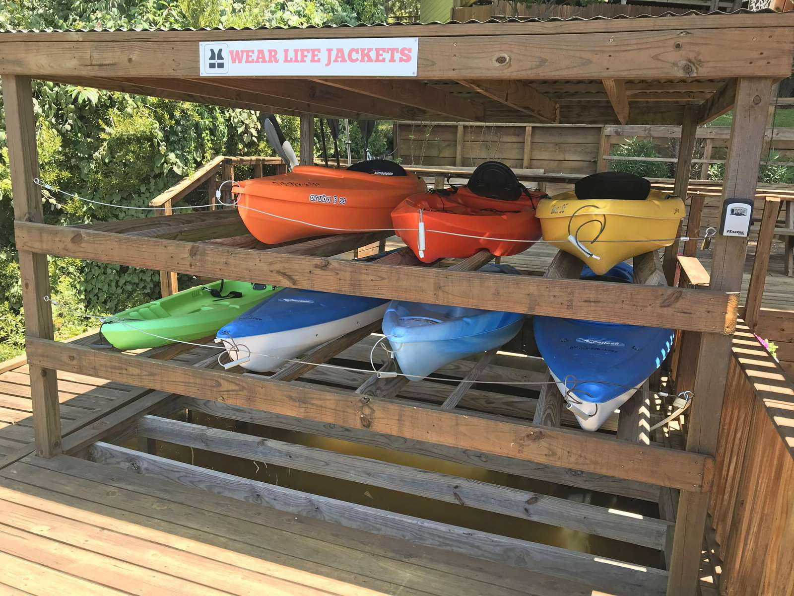 The kayaks come with the home and are for you and your guests to use.
