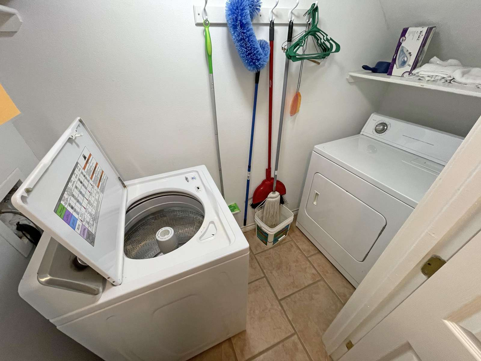 As is the case with all our homes, we have washers and dryers.