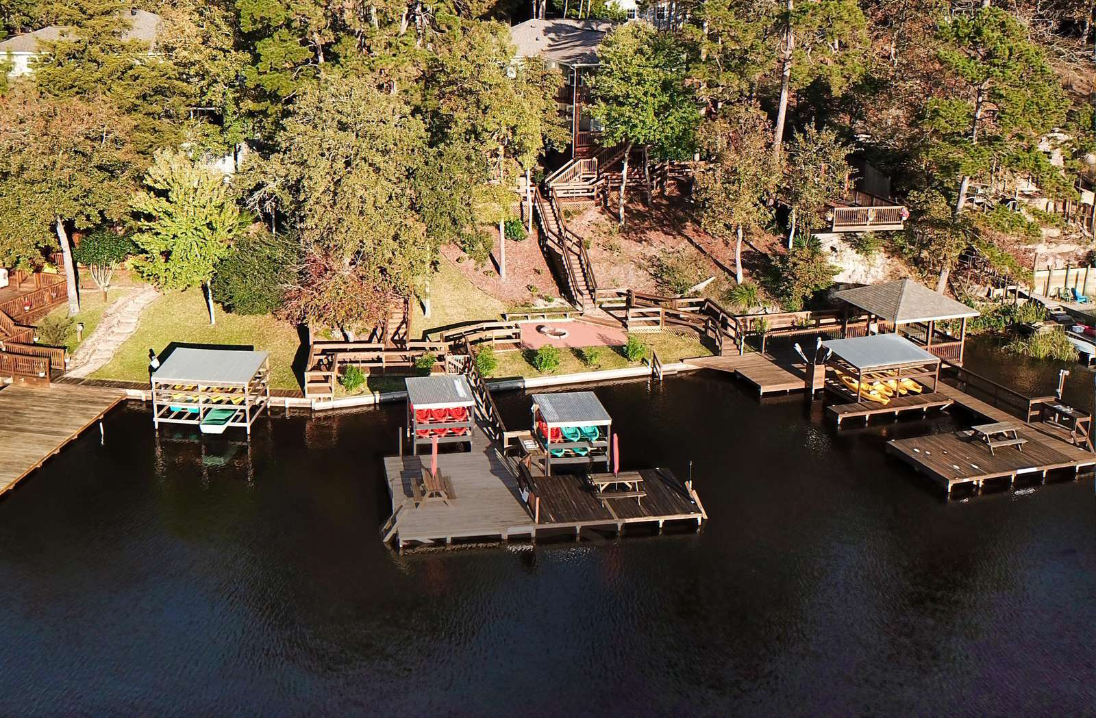 The right side of the center dock is for use by The Gregory's guests.