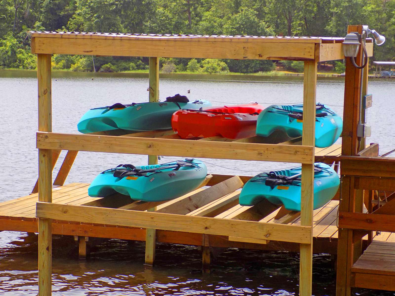These kayaks are for you and your guests. the cove is a great place to explore.