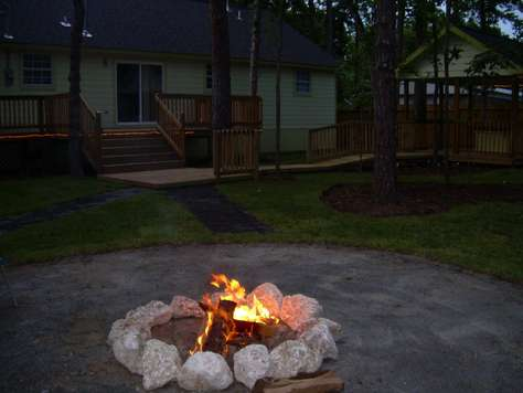 Enjoy an  fire on those chilly nights