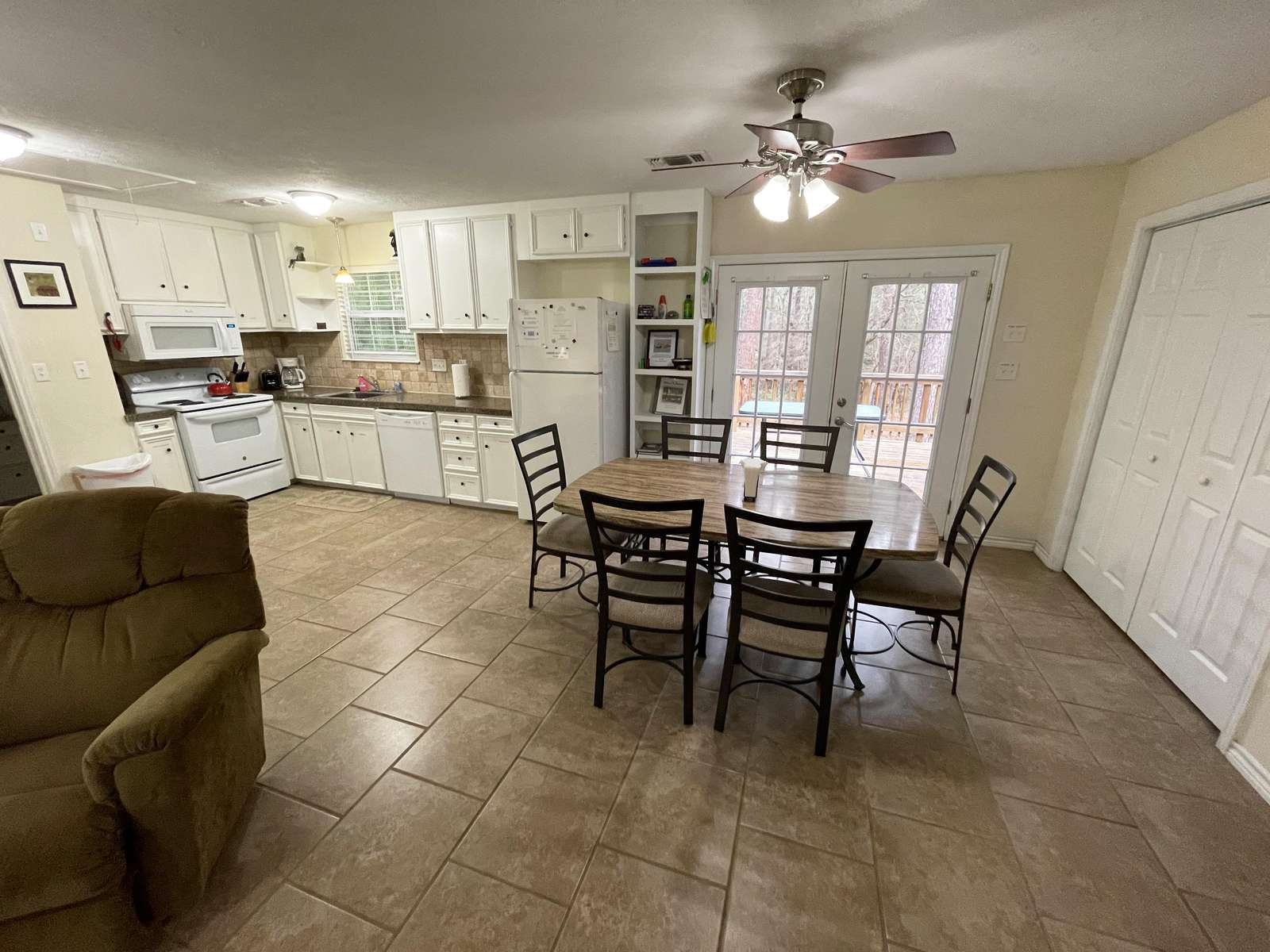 The Kitchen/Dining area.