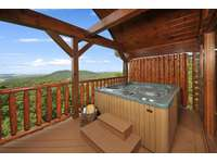 Hot Tub overlooking City & Mountain Views thumb