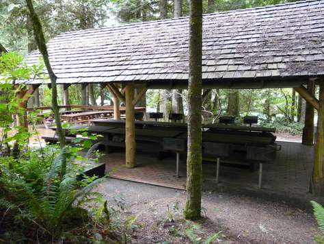 Huge Covered Picnic BBQ Area with 8 BBQ's