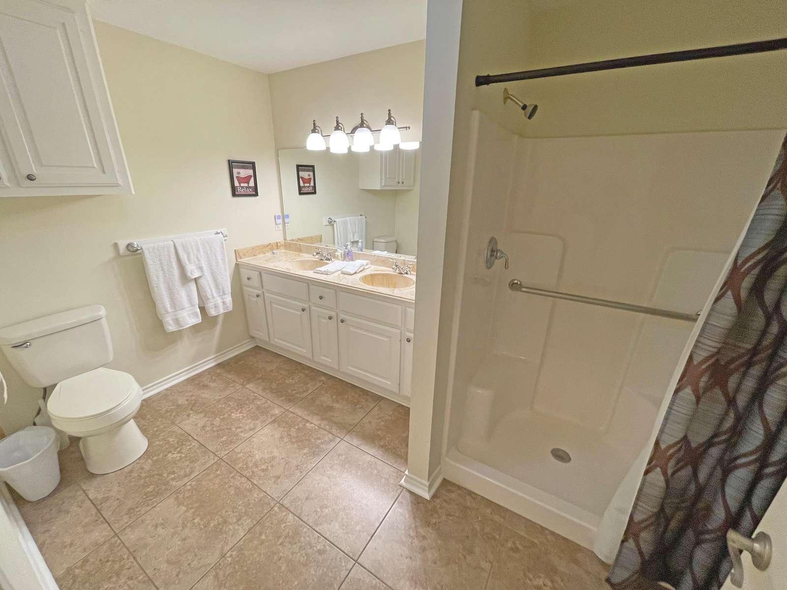 The Lower hall bathroom