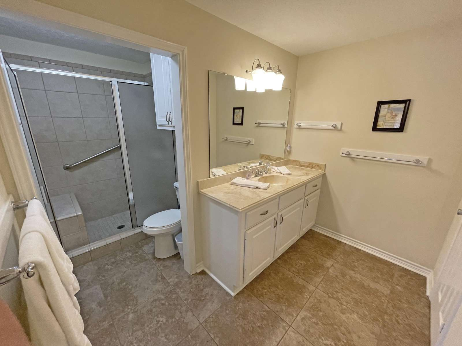 The Master Bathroom with shower.