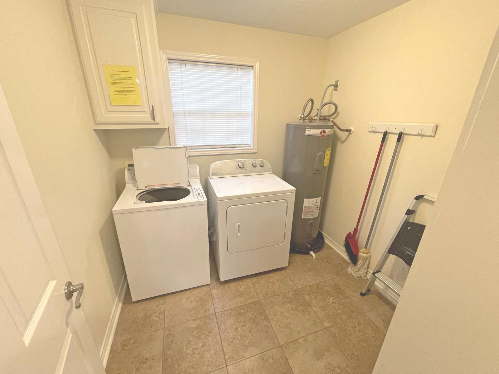 The laundry area off the kitchen.
