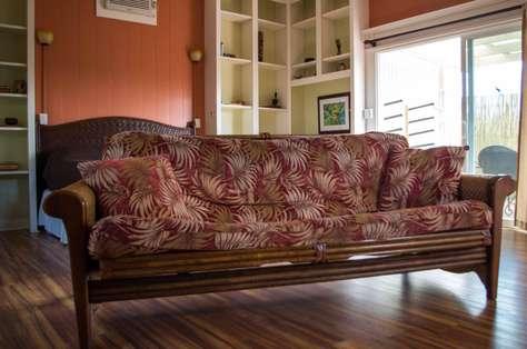 Living area (futon sofa)