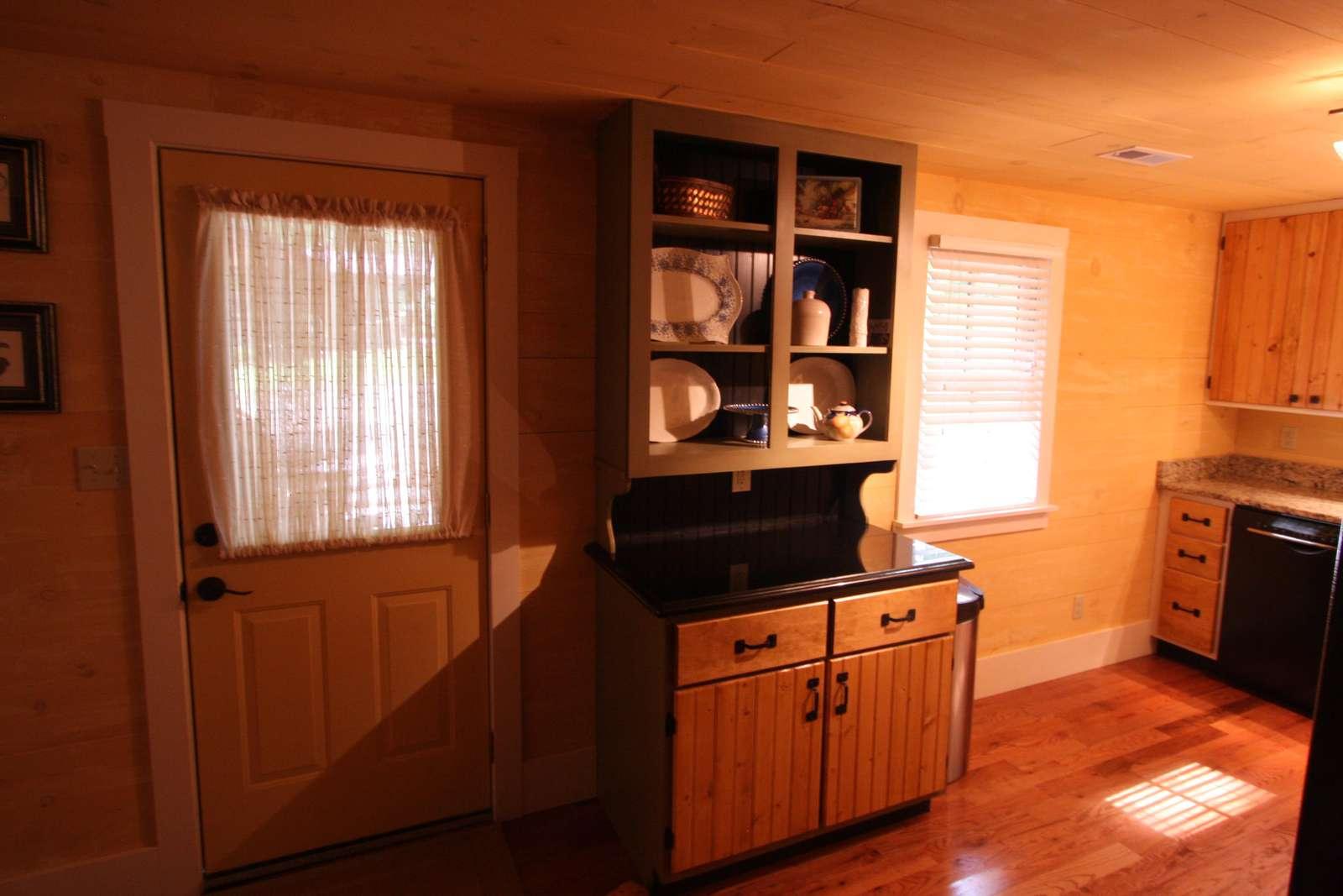Front door by kitchen
