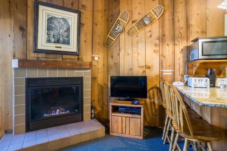 Fireplace, TV, DVD
