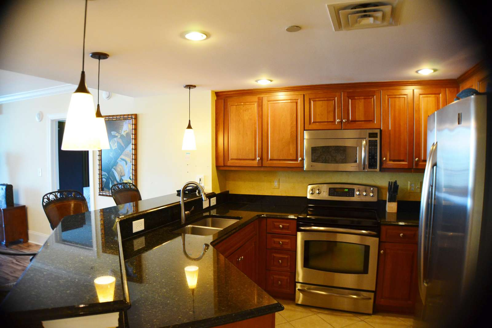 Gourmet, fully equipped kitchen
