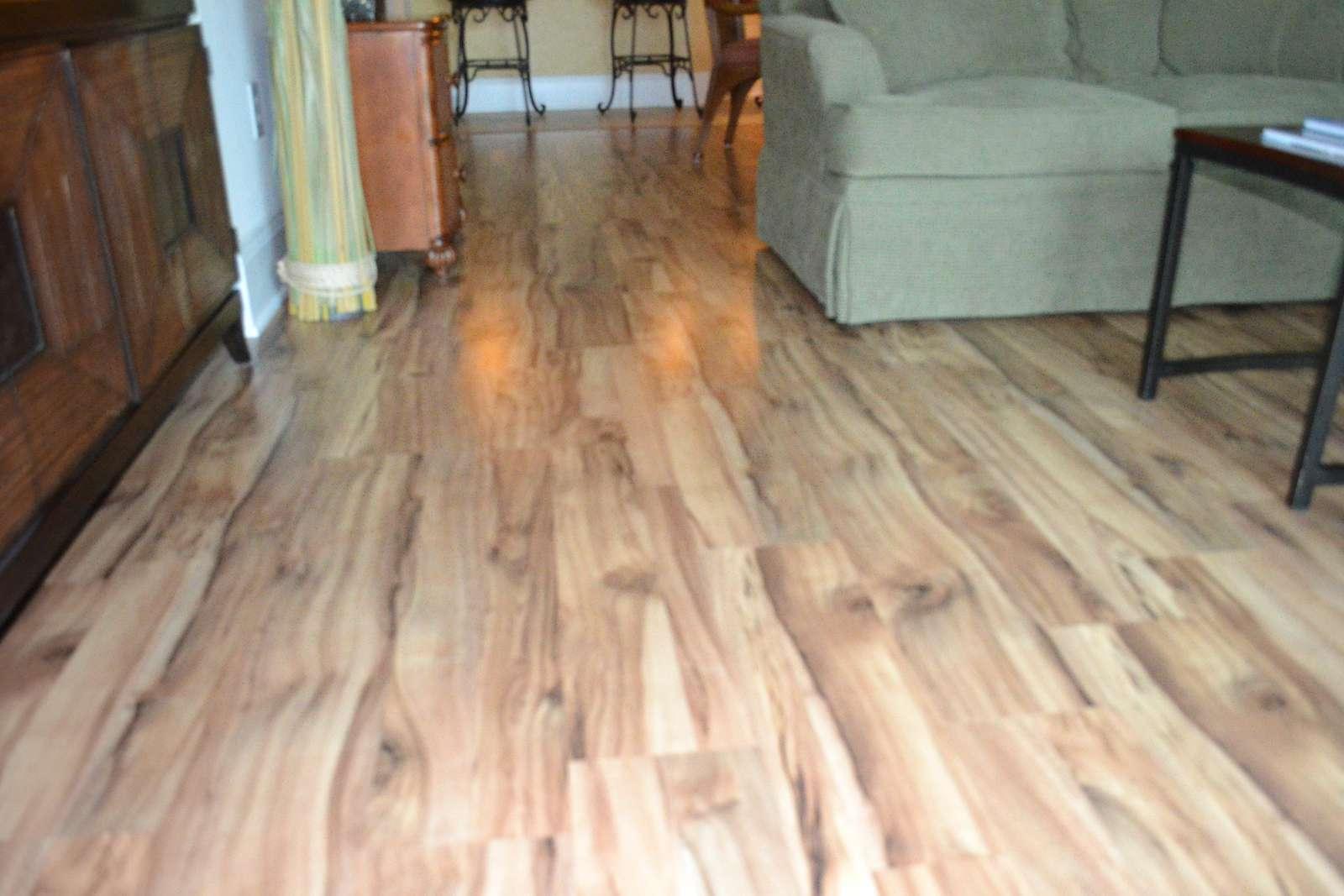 Beautiful new laminate wood flooring
