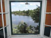 View of the lake from the backside of the cottage thumb