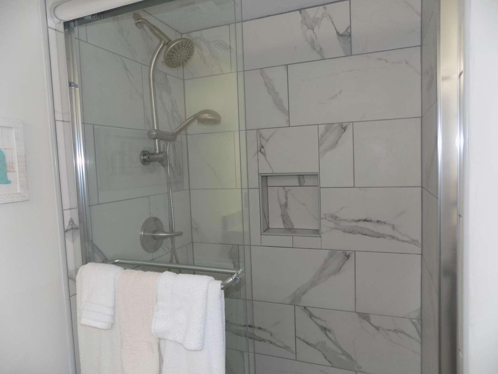 Guest Tiled Shower